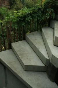 Prefab betonnen tuintrappen